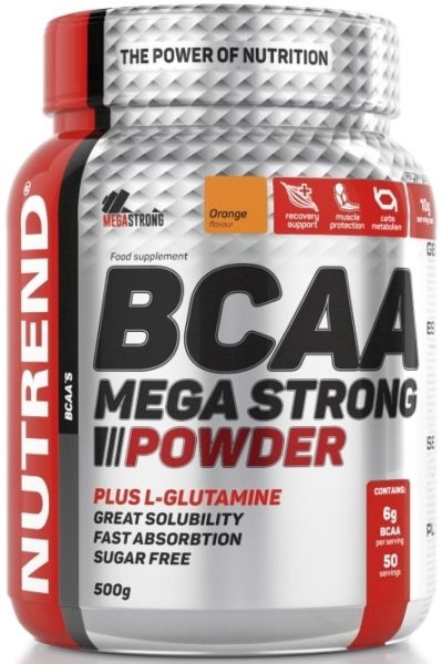Nutrend BCAA Mega Strong Powder - 500 g Pulver