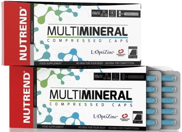 Nutrend Multi Mineral Compressed Caps - 60 Kapseln