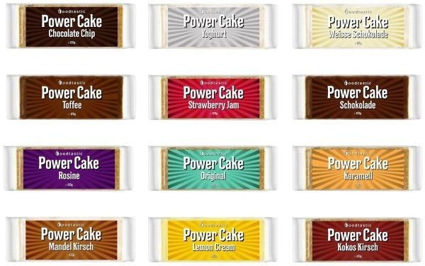 Foodtastic Power Cake - 12x 120g Riegel