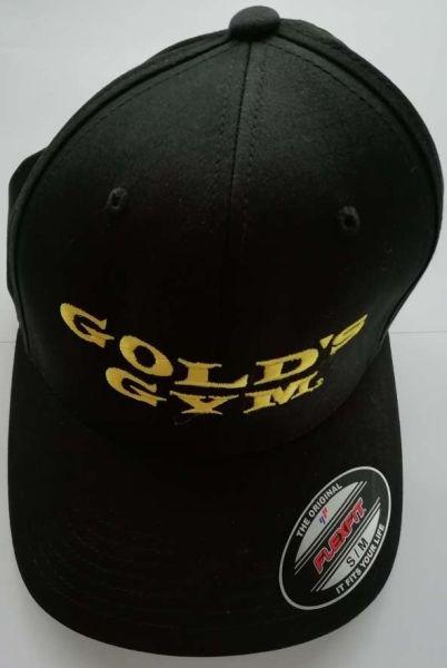 Golds Gym Stacked Flexfit Cap - Black