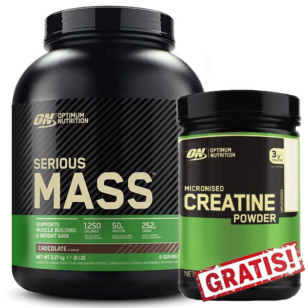 Optimum Nutrition Serious Mass 2730g + Micronised Creatine Powder 317g GRATIS!