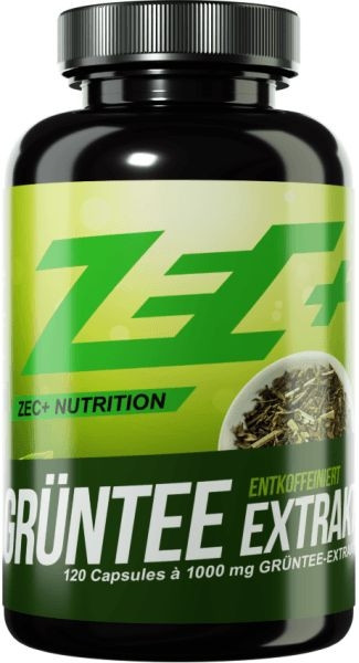 ZEC+ Grüntee Extrakt entkoffeiniert - 120 Kapseln - MHD WARE 04.07.2020