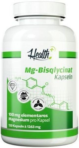 Health+ Magnesium Bisglycinat - 120 Kapseln - MHD WARE 26.06.2020
