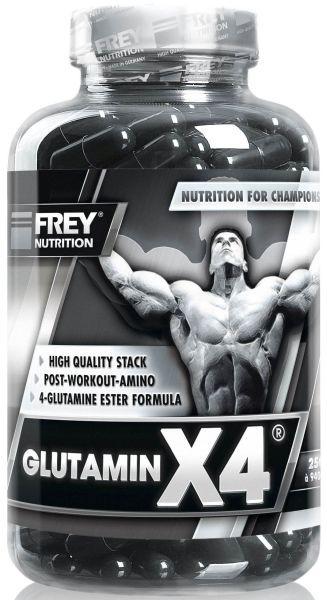 FREY NUTRITION GLUTAMIN X4® - 250 Kapseln - MHD WARE 04/2020