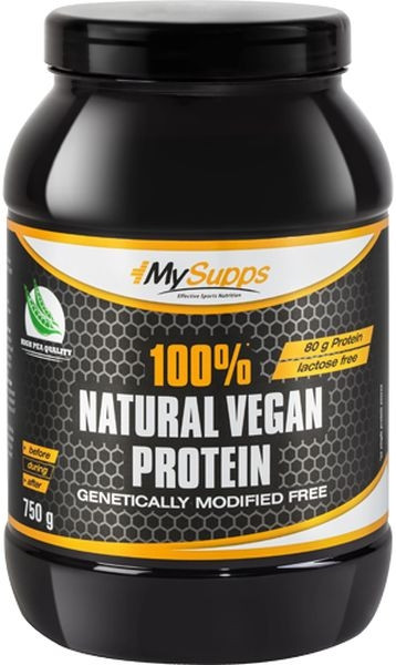 My Supps 100% Natural Vegan Protein - 750g - MHD WARE 12/2020