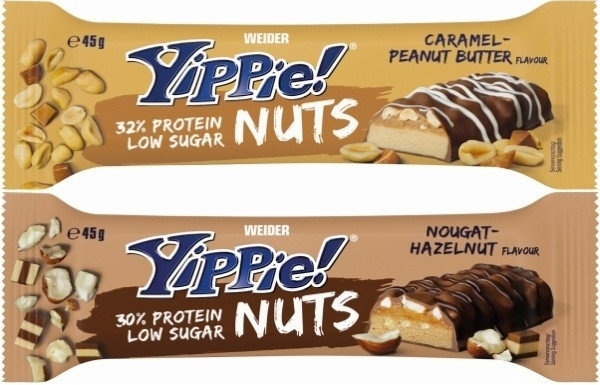 Weider Yippie! Nuts - 45 g Riegel
