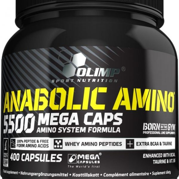 Olimp Anabolic Amino 5500 - 400 Kapseln - MHD WARE 23.09.2020