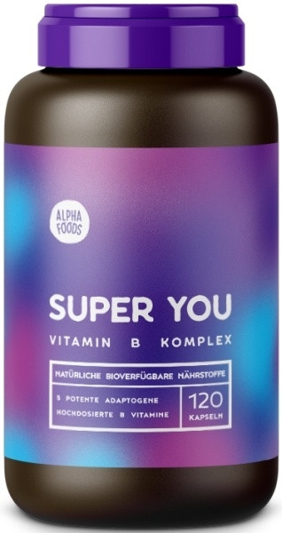 Alpha Foods Super You - Vitamin B Komplex - 120 Kapseln