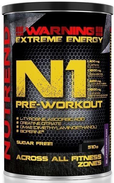 Nutrend N1 Pre-Workout - 510g Pulver - MHD WARE 10.12.2020