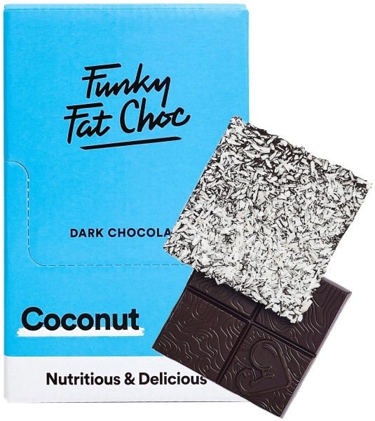 Funky Fat Foods Keto Chocolate - 10x 50g