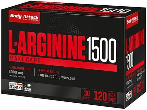 Body Attack L-Arginine 1500 - 120 Maxi Caps