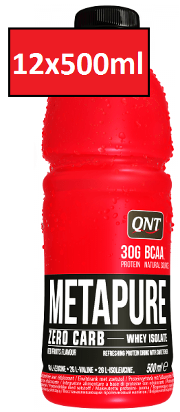 QNT Metapure Zero Carb Isopure Drink - 12 x 500ml