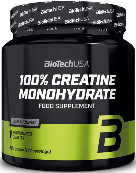 BioTechUSA 100% Creatine Monohydrate - 500g