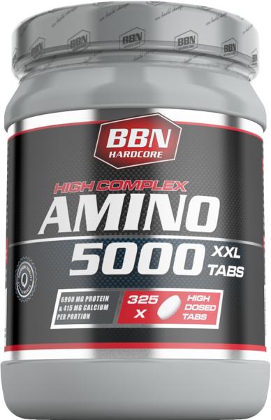 BBN Hardcore Amino 5000 - 325 XXL Tabs