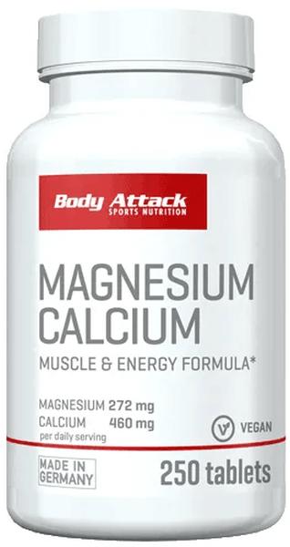 Body Attack Magnesium + Calcium - 250 Tabletten