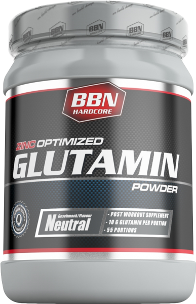 BBN Hardcore Glutamin Powder - 550g