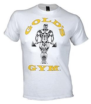 Golds Gym Classic Logo Basic T-Shirt - white