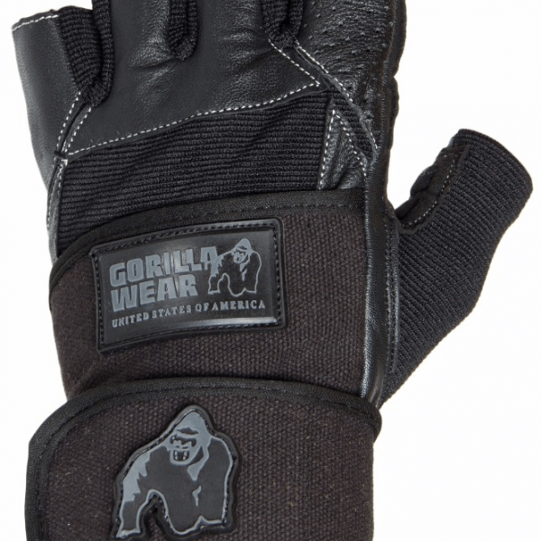 Gorilla Wear Hardcore Wrist Wrap Gloves Black