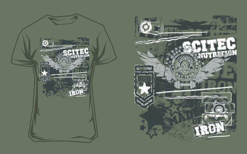 Scitec Nutrition T-Shirt - Made of Iron green