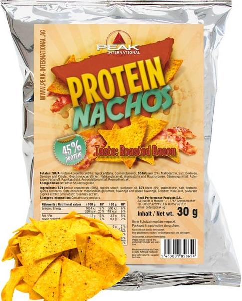 Peak Protein Nachos -  Roasted Bacon - 30g Beutel