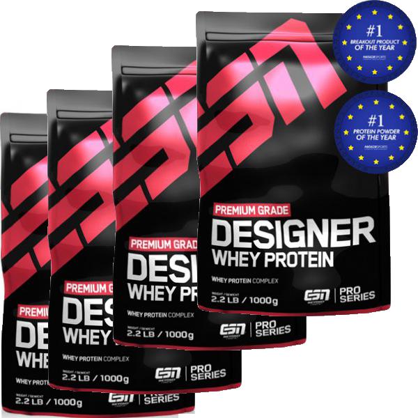 ESN Designer Whey 4x 1000g Beutel