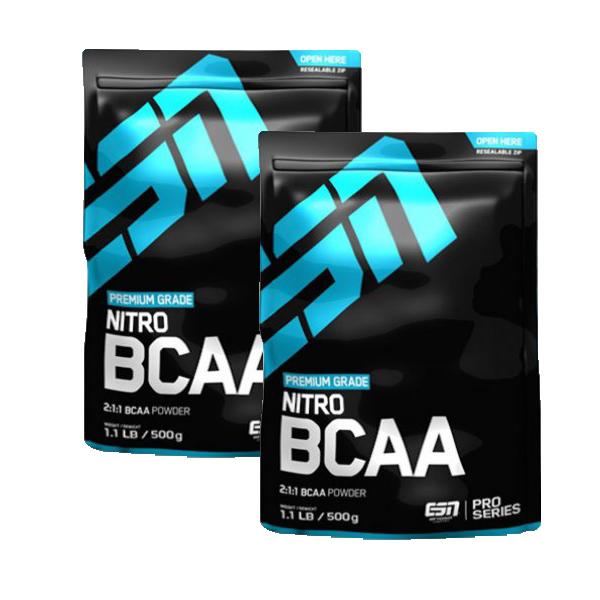 ESN Nitro BCAA Powder - 2x 500g Beutel