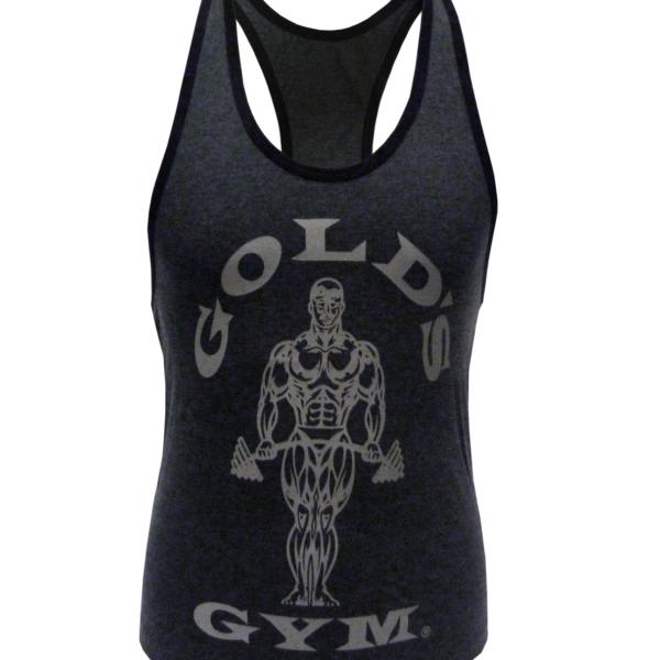 Golds Gym Ladies Loose Fit Stringer - charcoal