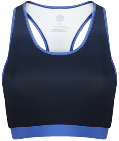 Golds Gym Sublimated Crop Top navy