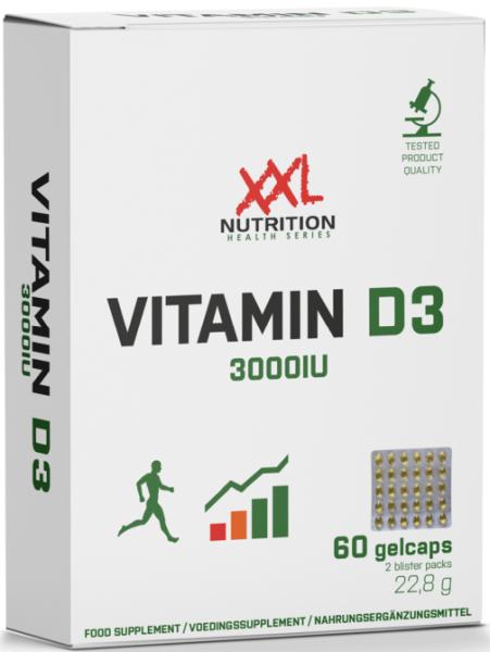 XXL Nutrition Vitamin D3 3000IU - 60 Gelkapseln