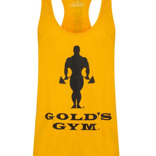 Golds Gym Muscle Joe Slogan Premium Tank - Gold