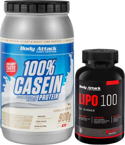 Body Attack Casein + Lipo 100 Kombi