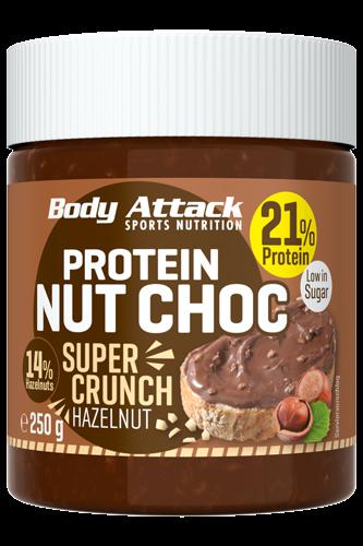 Body Attack Protein Nut Choc Super Crunch - 250g