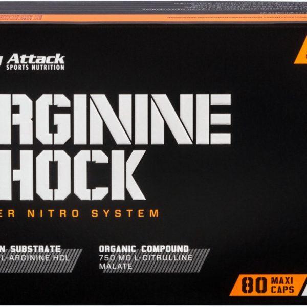 Body Attack Arginine Shock - 80 Kapseln