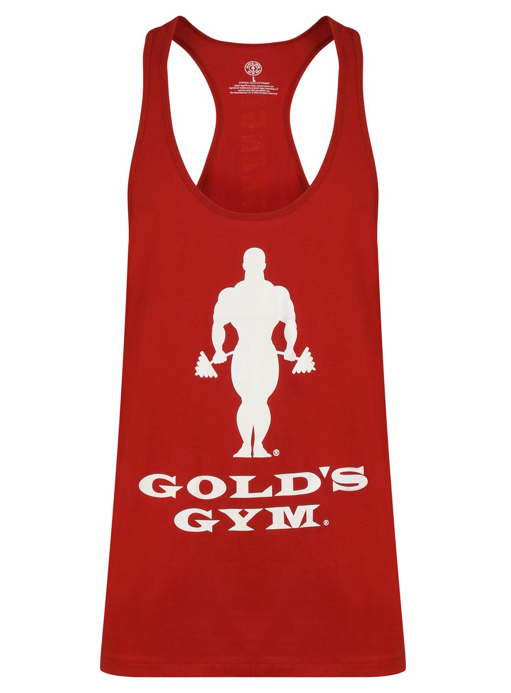 Golds Gym Muscle Joe Slogan Premium Tank - Burgundy