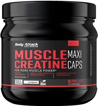 Body Attack Muscle Creatine - 240 Maxi Caps