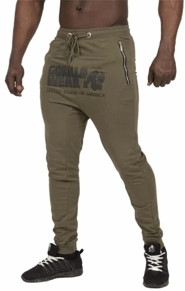 Gorilla Wear Alabama Drop Crotch Joggers - army green