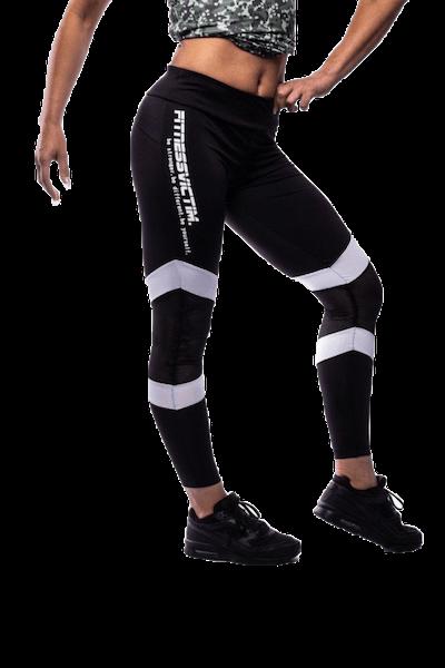 Fitnessvictim Women Killer Lines Leggings - black and white