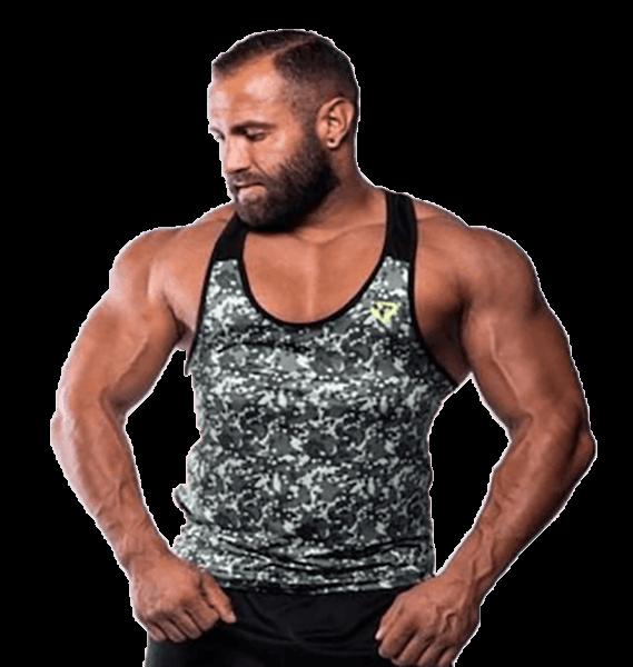 Fitnessvictim Men Camou Tank