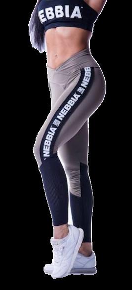 Nebbia - High Waist Mesh Leggings - mocha