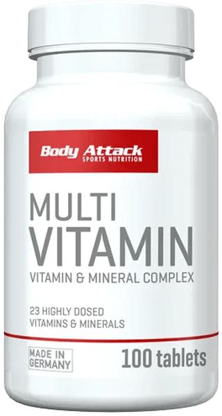 Body Attack Multi-Vitamin - 100 Tabletten