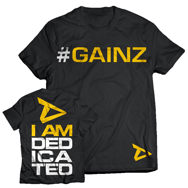 Dedicated Nutrition T-Shirt #GAINZ
