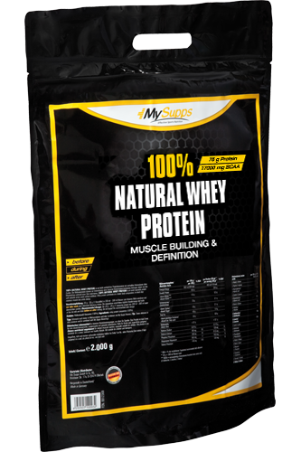 My Supps 100% Natural Whey Protein - 2000g