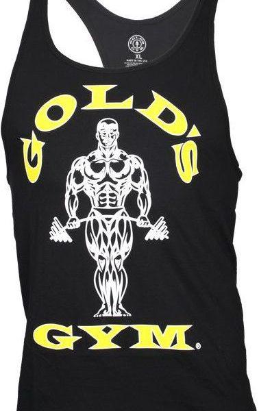 Golds Gym Classic Stringer Tank Top - black