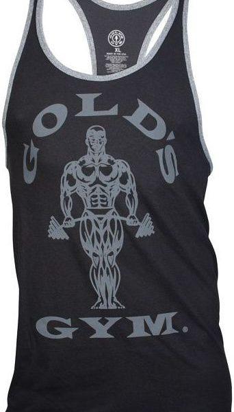 Golds Gym Muscle Joe Contrast Stringer Tank - black