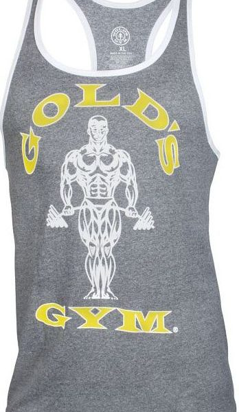 Golds Gym Muscle Joe Contrast Stringer Tank - marl/white