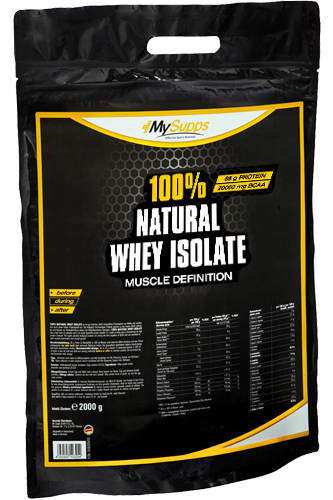 My Supps 100% Natural Whey Isolat- 2000g