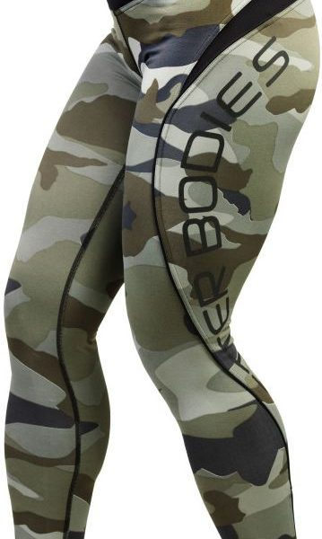 Better Bodies Camo long tights - camo green