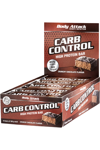 Body Attack Carb Control Protein Bar - 15 Riegel