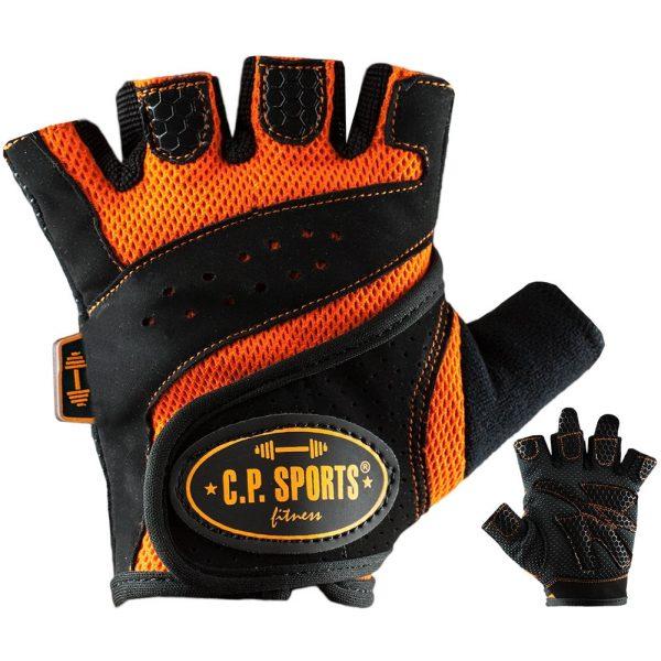 C.P. Sports Lady Gym Fitnesshandschuh - schwarz orange