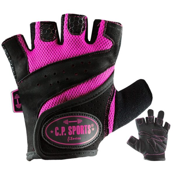 C.P. Sports Lady Gym Fitnesshandschuh - schwarz pink